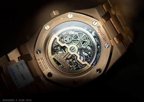 Audemars Piguet Ap Ro Thin Rosegold Black Ultimate on with the audemars piguet royal oak openworked thin in gold