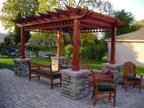 Free Patio Design Patio Pergola Plans Free Landscaping Gardening Ideas