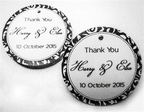 simply favours wedding favours and thank you gifts in classic black and white thank you tag wedding favour