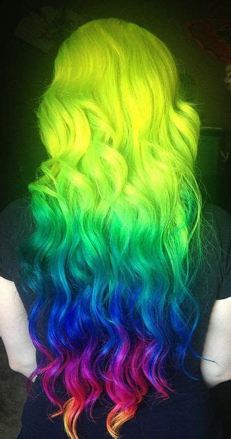 rainbow colored hairstyles   pretty designs