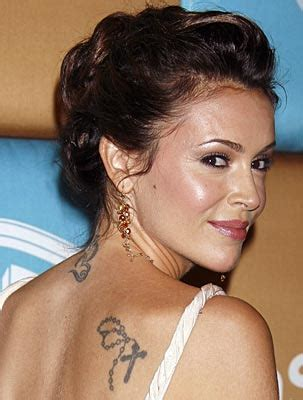 alyssa milano tattoo alyssa tattoos pictures images pics photos of