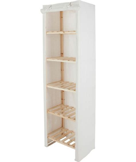 buy polycotton 5 narrow shelf storage unit at