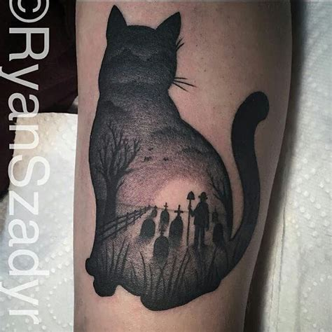 cat silhouette tattoo black cat silhouette www imgkid the image