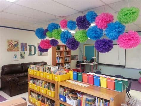 Preschool Ceiling Decorations by Make Some Easy Truffula Flower Pom Poms As Ceiling