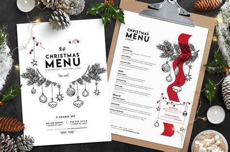 christmas menu template vol 3 brandpacks