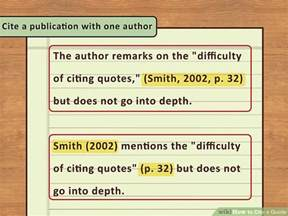 Properly Cite Quotes In An Essay by 4 Easy Ways To Cite A Quote With Pictures Wikihow