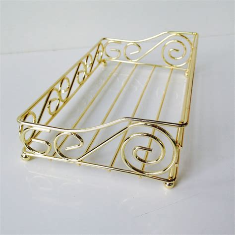 bathroom napkin holder hollywood regency gold towel powder bathroom napkin holder