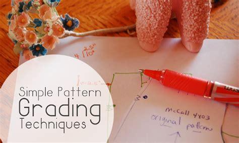 simple pattern grading simple pattern grading techniques