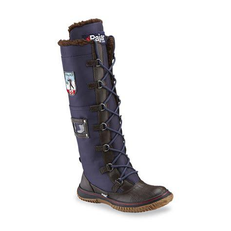 s pajar boots pajar 174 s grip zip navy brown winter boot
