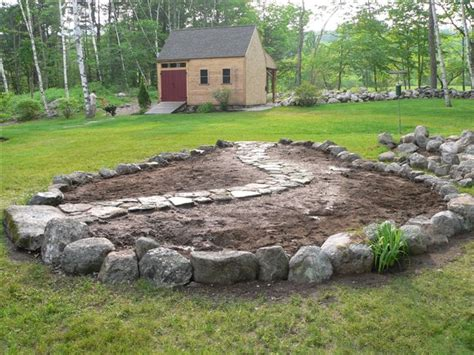 Rock Vegetable Garden Maine Stonework Masonry Hardscaping Perennial Fieldstone Vegetable Garden Baldwin