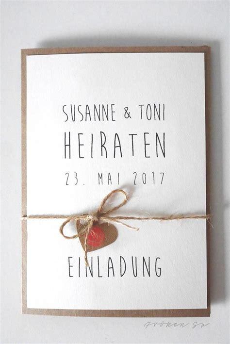 Einladungskarten Hochzeit Einfach by Diy Einladungskarte F 252 R Eure Hochzeit