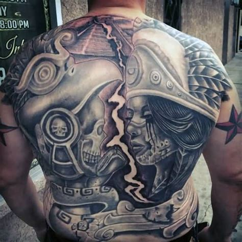 aztec warrior skull tattoo designs 45 aztec designs truetattoos