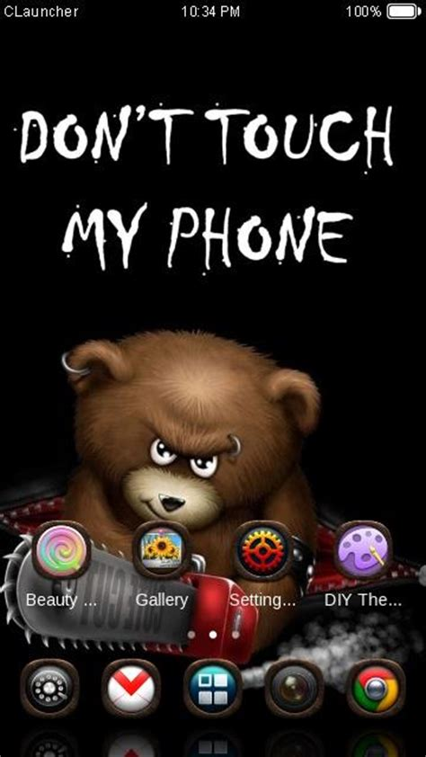 hot themes for myphone dont touch my phone theme android apps on google play