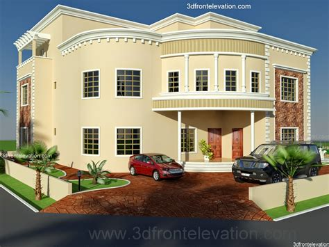 3d front elevation dubai arabian house 3d front