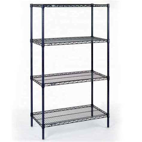 nexel chrome 18x48x86 e z adjust wire shelving starter
