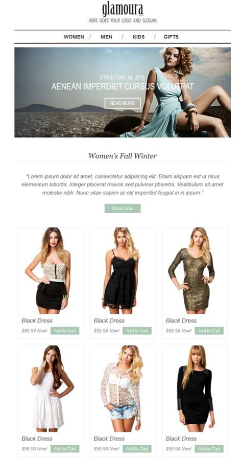 fashion newsletter templates top 50 best responsive email marketing newsletter