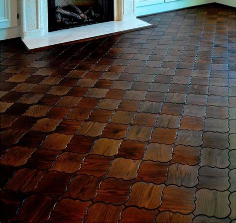 Tabulous Design: Shapely Wood Flooring From Jamie Beckwith