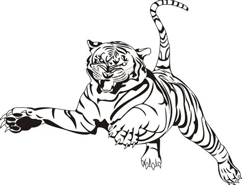 Free Coloring Pages Of Tigers Tiger Coloring Book Pages