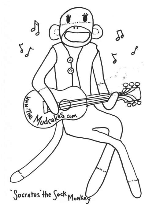 coloring pages of sock monkey sock monkey coloring pages coloring home