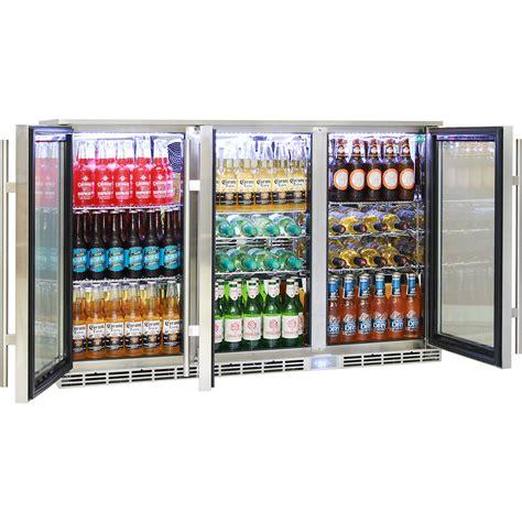 3 Door Glass Bar Fridge Rhino 3 Door Outdoor Glass Door Alfresco Bar Fridge Energy Efficient