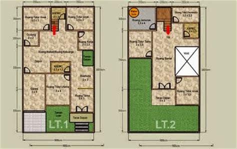 desain rumah minimalis  lantai luas tanah  gambar foto desain rumah