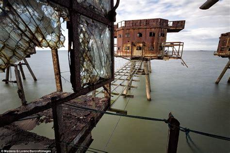 eerie images   abandoned coastal forts built