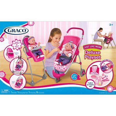 graco swing accessories toys graco 11 pcs just like mom deluxe playset stroller swing