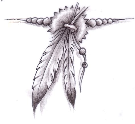 native american feather tattoo designs feather with design feathers
