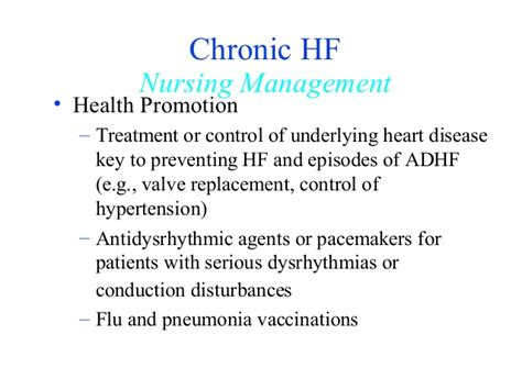 congestive heart failure chf nursing care plan management congestive heart failure
