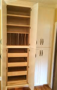 Wood Kitchen Pantry Cabinet Custom Solid Wood Kitchen Pantry Cabinets For Organized Storage Detail Borders Woodworks