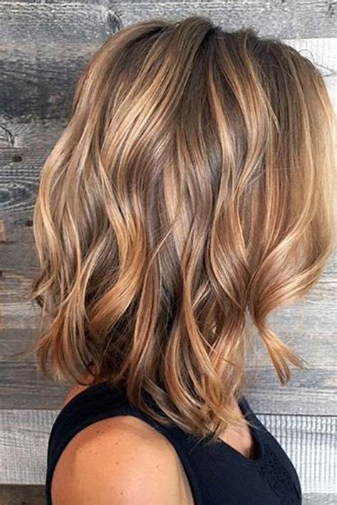 brunette with blonde highlights for women 50 and over 35 balayage hair ideas in brown to caramel tone balayage