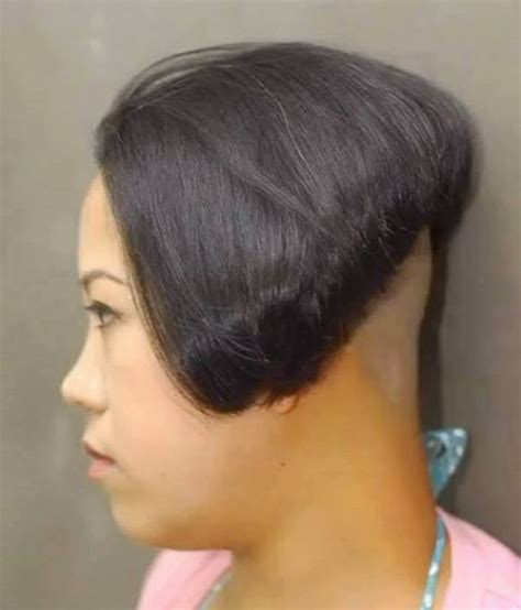www ponytail with high nape shave haircut high nape shave short sweet haircuts pinterest