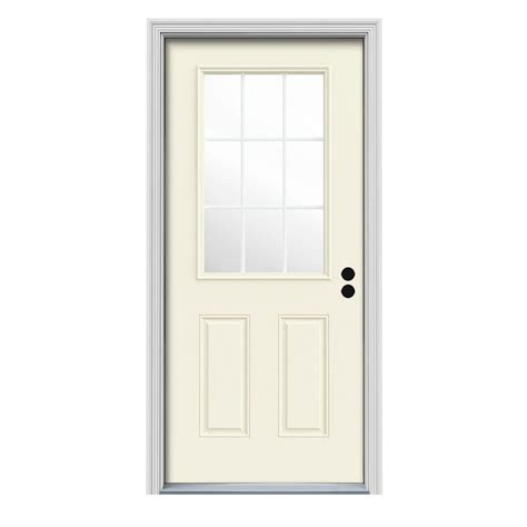 30 X 80 Exterior Door With Window Doors With Glass Jeld Wen Doors 30 In X 80 In 9 Lite Painte