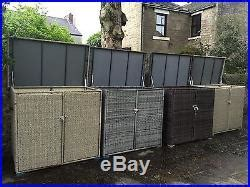 large rattan static caravan storage storage shed box chest trunk storage boxes large