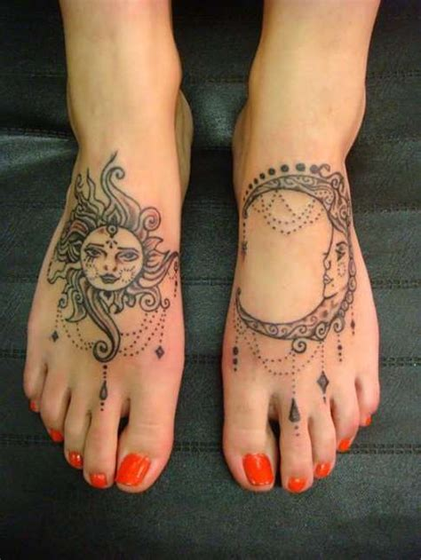 tattoo finger sun foot tattoos for women sun and moon foot tattoos