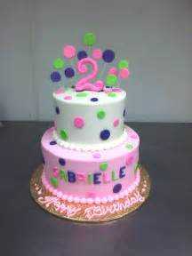 Cake girls 2nd birthday cake kids birthday pink pink polka dot cake