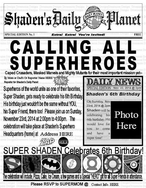newspaper birthday card template 5 birthday newspaper templates word pdf psd indesign