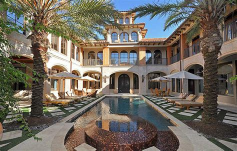 Central Courtyard House Plans by 3 6 Million Mediterranean Mansion In Spring Tx With