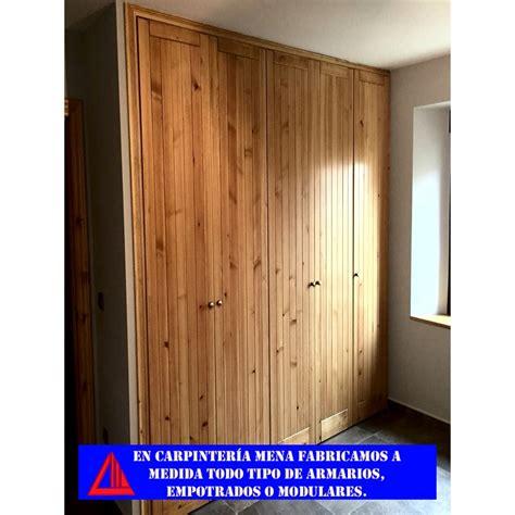 armarios de pino armario empotrado de pino con puertas abatibles