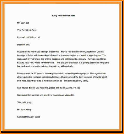 sle resignation letter format exle retirement letter of resignation template 28 images 7