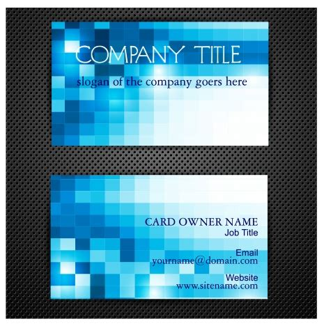 Blue Cracker Card Template by Stock Business Card Abstract Background Gallery Card