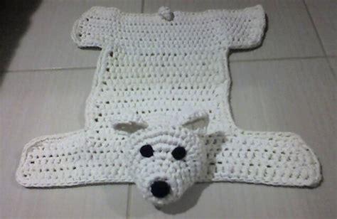 alfombra oso crochet alfombras originales con restos de tela o trapillo el