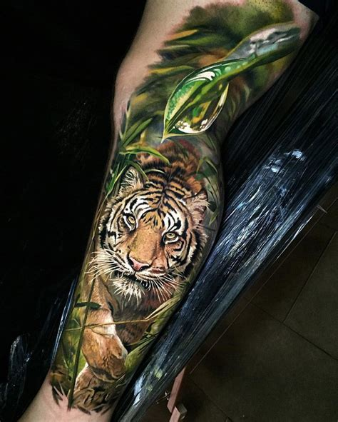 tattoo jungle tiger in the jungle tigers and