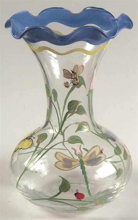 Lenox Butterfly Vase by Lenox Butterfly Meadow Handpainted Crimped Vase 5535599