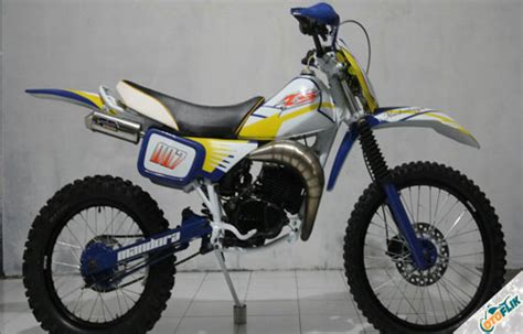 modifikasi motor cross poswan update tiket