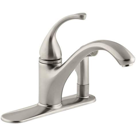 kohler forte single handle standard kitchen faucet with kohler forte single handle standard kitchen faucet with