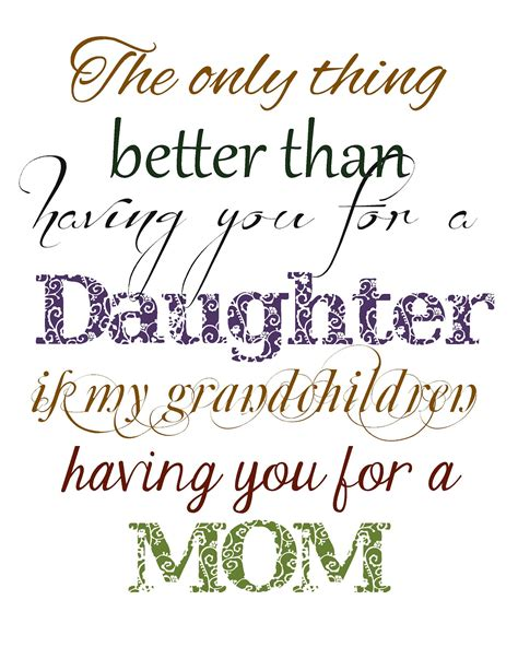 printable grandma quotes my daughter is the best quotes christmas in september