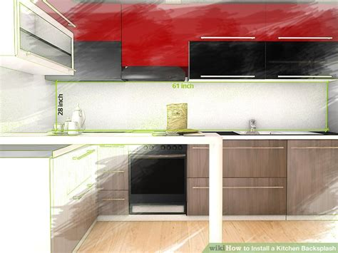 installing a kitchen backsplash how to install a kitchen backsplash with pictures wikihow