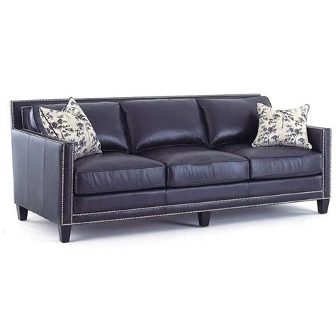 Blue Leather Sofa Navy Blue Leather Sofa By Steve Silver