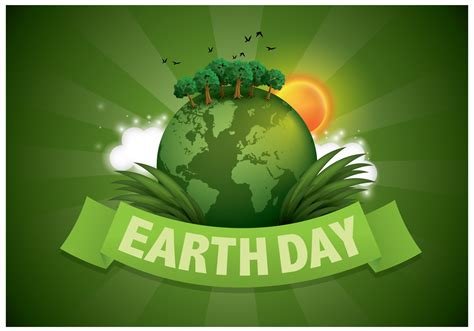 green earth day illustration vector download free vector